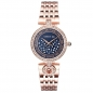 Mobile Preview: Cerruti Ferrara II Ladies Damenuhr Rosegold Edelstahl Kristall Blau CRM134SR03MR