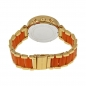 Preview: Michael Kors MK6139 Gold Edelstahl Orange Damenuhr Armbanduhr