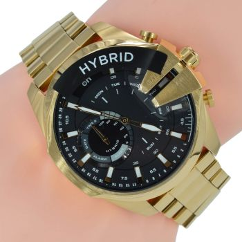 Diesel ON Herrenuhr Hybrid Smartwatch Mega Chief DZT1013 Gold