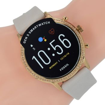 Fossil Q Damen Uhr Gen 5 Smartwatch Julianna HR FTW6054 Rose Zirkonia