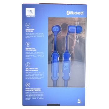 JBL In Ear Kopfhörer Bluetooth Headset Pure Bass JBLT160BTBLU Blau Box
