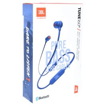 JBL In Ear Kopfhörer Bluetooth Headset Pure Bass JBLT160BTBLU Blau