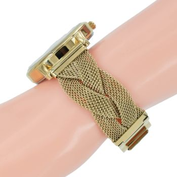 Guess Damen Uhr W1143L2 Maiden Jersey Milanaise Mesh Gold Farbe Armband