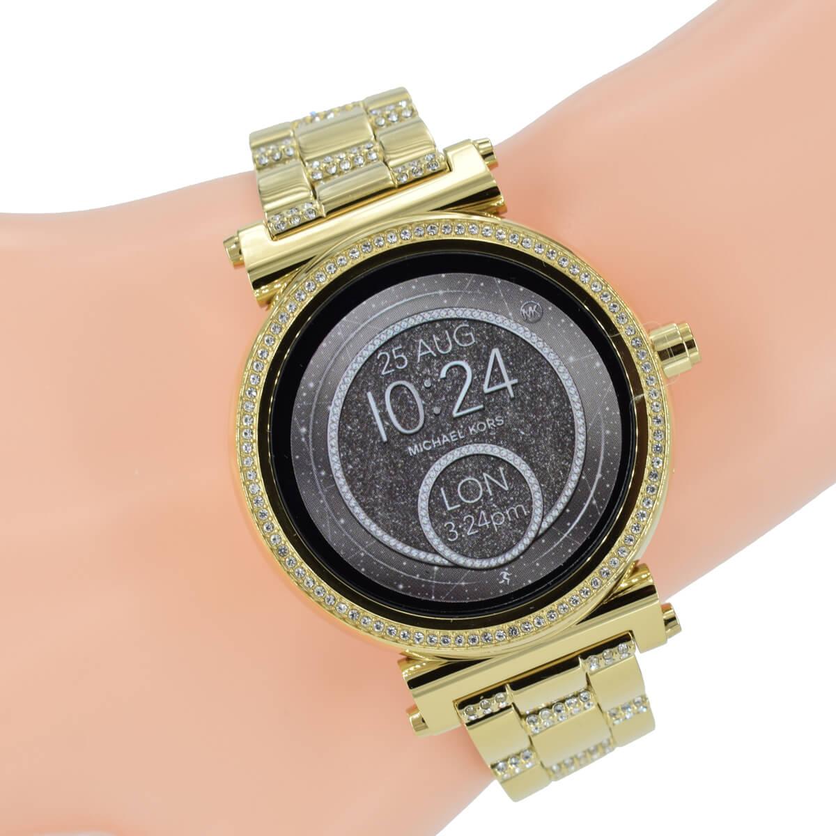 34a9806b9cd29 Michael Kors Access Damenuhr Smartwatch Sofie MKT5023 Gold Zirkonia