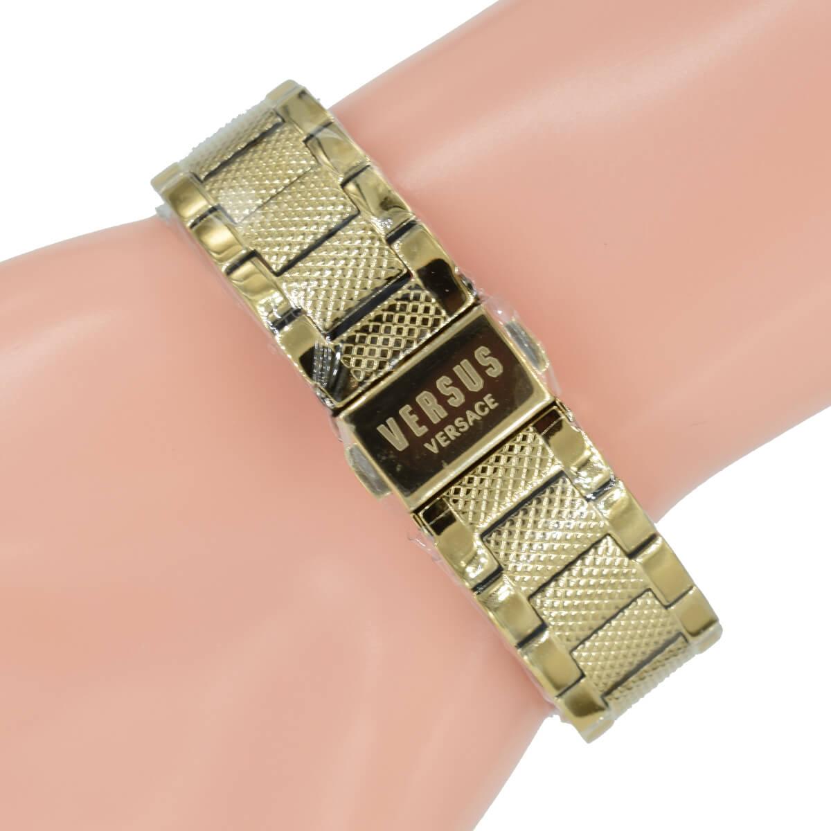 günstigen preis genießen billig zu verkaufen Outlet-Store Versus Versace Damen Uhr VSP213518 3D Löwe Gold Farbe Armband