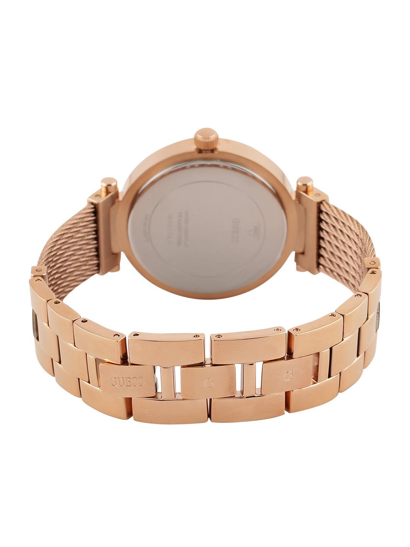 Guess W0638L4 Soho Rose Edelstahl Draht Armband Damenuhr Armbanduhr ...