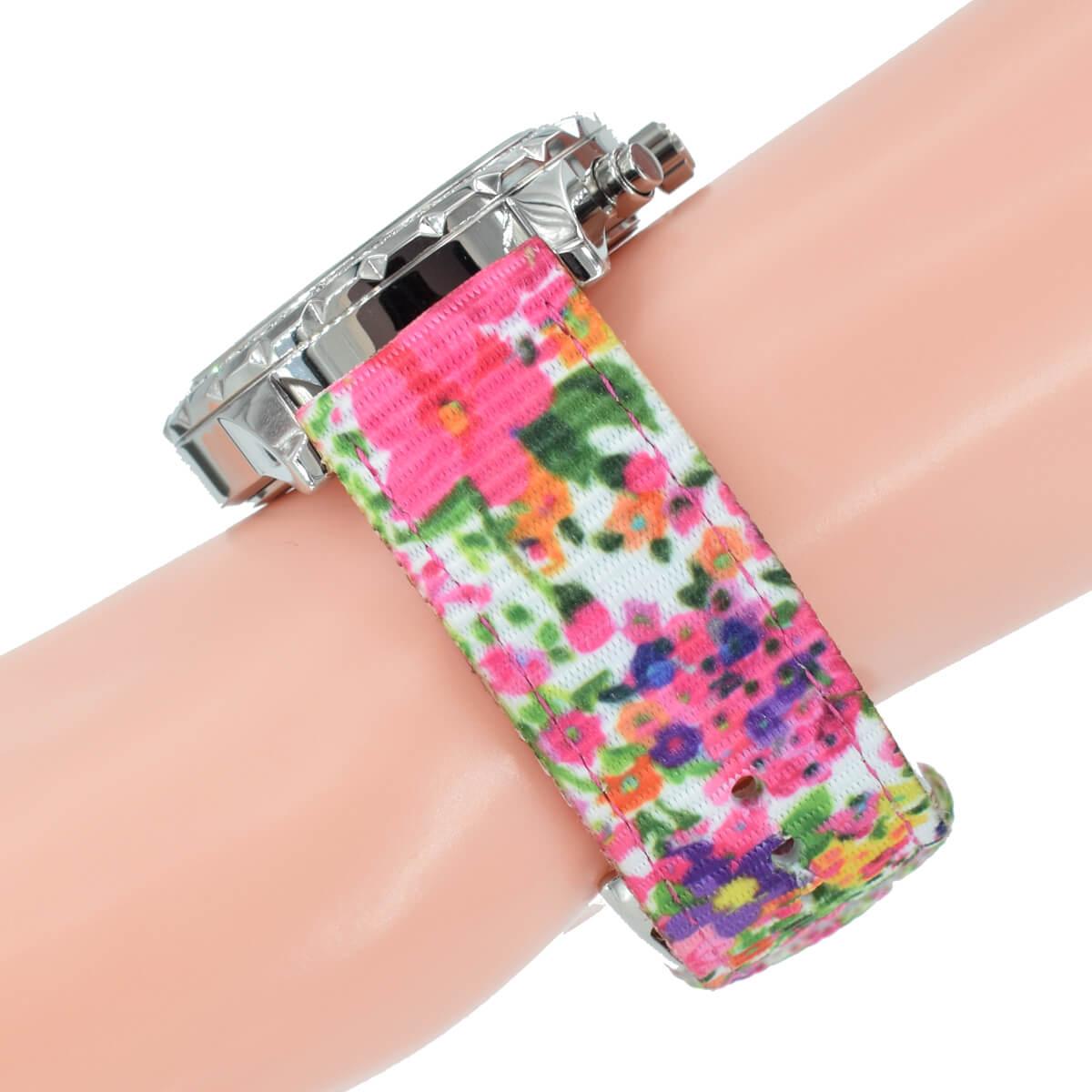 Blumen Muster Armband Guess Uhr W0903l1 Damen Bunt Melodie Nylon b7vIg6Yyfm