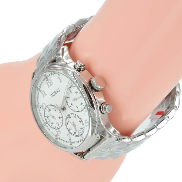 Guess Damen Uhr Chronograph W1018L1 Taylor Silber Edelstahl Armband